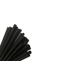 Eco Oxo Bio Plastic Straw Cocktail Black Ctn of 5000