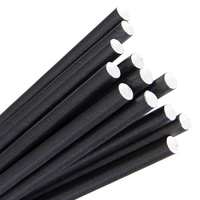 Eco-Straw Paper Regular Straw Black Pkt of 40