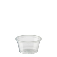 Clear Plastic Portion Cup 22ml Sleeve of 250