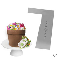 Cake Craft Buttercream Comb Flower Pot Style 6 Inch