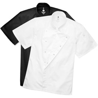 Chefworks Cannes Coat with Press Studs & Short Sleeve