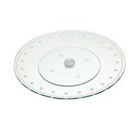 KitchenCraft Cake Decorating Stand 30cm Glass Sweetly Does It