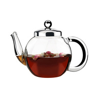 Athena Glass Teapot with Strainer 1000ml Gift Boxed