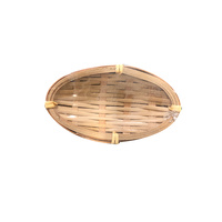 Disposable Bamboo Mini Dish Oval 10x5cm Pkt of 6