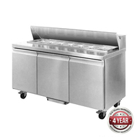 3 Door Sandwich Bar / Prep Fridge 1800x750x1090mm