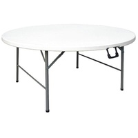Bolero Folding Table White Round 740x1530mm