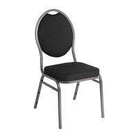 Bolero Oval Back Banquet Chairs Black 4 Pack
