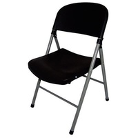 Bolero Folding Utility Chair Black Pack of 2