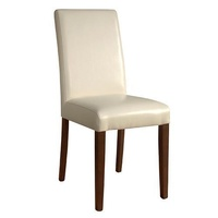 Bolero Faux Leather Dining Chairs, Cream, Set of 2