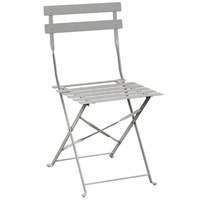 Bolero Folding Steel Chair, Grey 2 Pkt