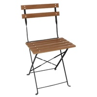 Bolero Folding Chairs Faux Wood Pack of 2