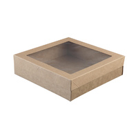 Kraft Catering Grazing Box w Window    S 225x225x60mm Ctn of 100